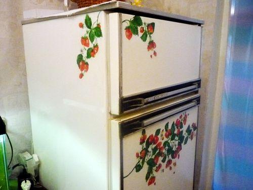 Декупаж холодильника мастер класс