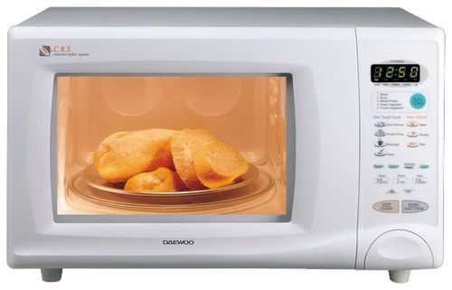 Готовка блюда в микроволновой печи