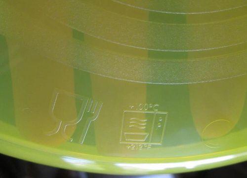 Специальная пометка на посуде для микроволновки
