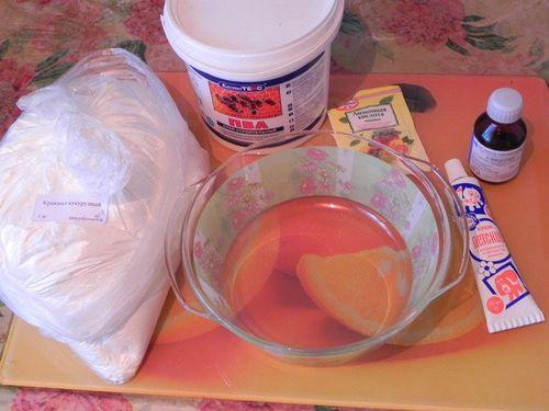Компоненты для приготовления холодного фарфора