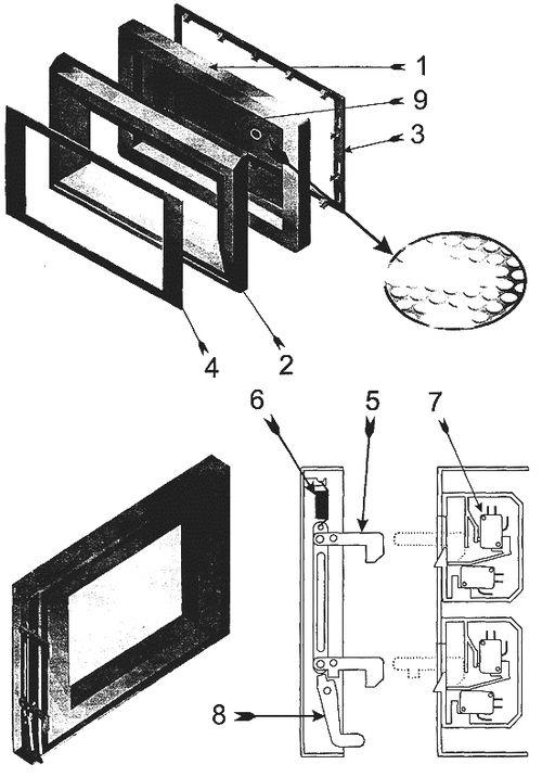Дверца микроволновой печи