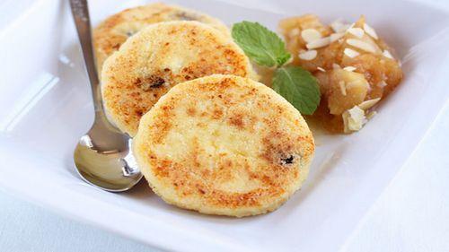Сырники творожно-яблочные
