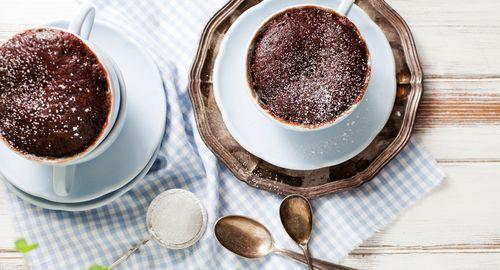 Банановый кекс с какао