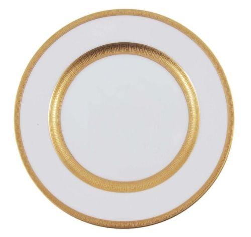 Тарелка с металлическим ободком